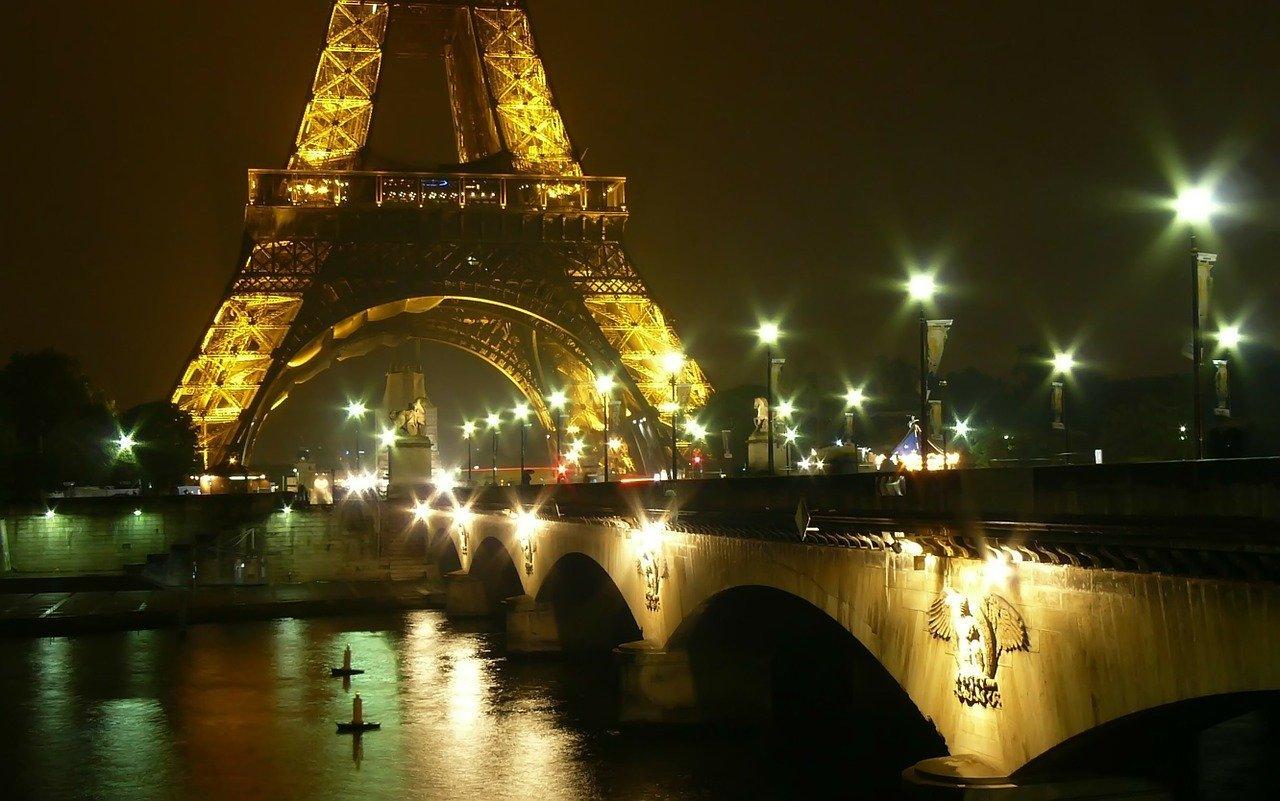 ближайший мост к Эйфелевой башнен