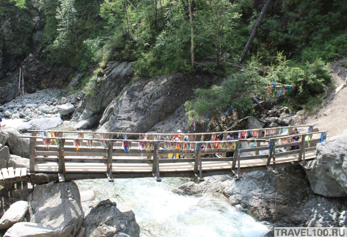 most na vodopade arshan